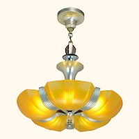 Streamline Art Deco Slip Shade Chandelier ANT-1043