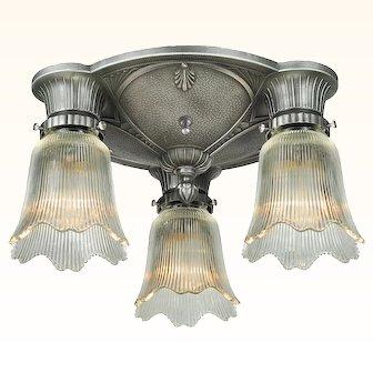 Antique Restored Art Deco Close Ceiling Light ANT-1051