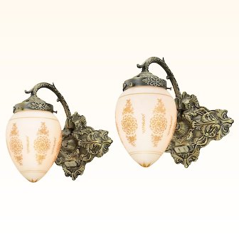Lovely Pair of 1930-40 French Wall Sconces ANT-1054