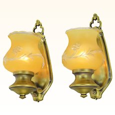 Interesting Pair of 1930's to 40s Sconces ANT-1058
