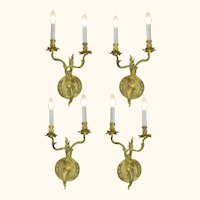 French Louis Style, Set of 4, Two Branch Candelabrum (Only One Left!) ANT-1059