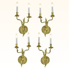 French Louis Style, Set of 4, Two Branch Candelabrum ANT-1059