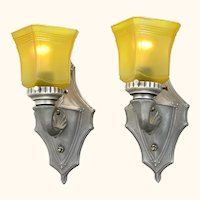 Antique Edwardian Pair of Lovely Wall Sconces ANT-1068