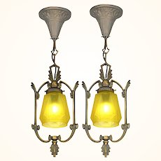 Pair of Matching Art Deco Hall Lights (sold each) ANT-1074