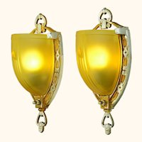 Antique Restored Mid-West Zephyr Series Wall Sconces ANT-1076