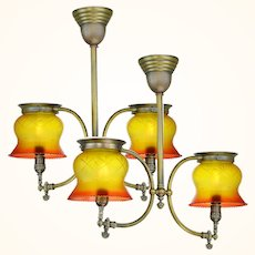 Two Near Matched Gas Two Light Hall Lights (sold each) ANT-1077