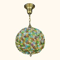 Lovely Bohemian Art Glass Flower Ball Chandelier ANT-1083