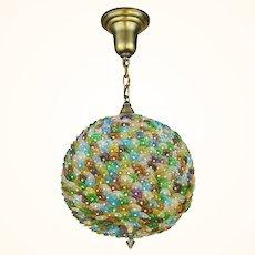 Lovely Bohemian Art Glass Flower Ball Chandelier ANT-1083