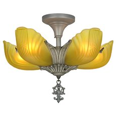 Art Deco 5 Shade Chandelier by Markel ANT-1102