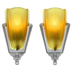 American Art Deco Pair of Sconces by Puritan  ANT-1122