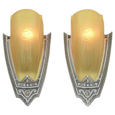 American Art Deco Pair of Sconces by Puritan (ANT-1139)