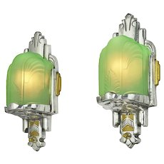 Nice Slip Shade Art Deco Sconces (ANT-1154)