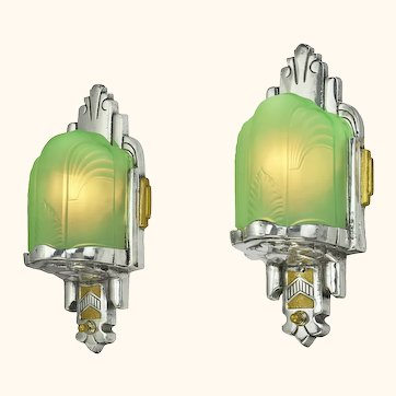 Nice Slip Shade Art Deco Sconces (ANT-1154)