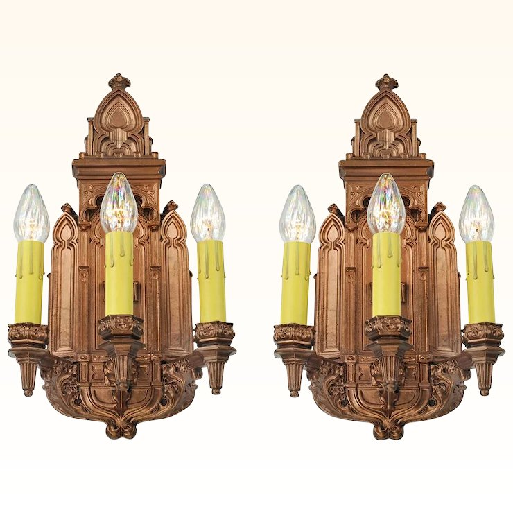 Antique victorian wall sconces pair of plaster lights 1880s fixtures antique victorian wall sconces pair of plaster lights 1880s fixtures ant 676 aloadofball Images