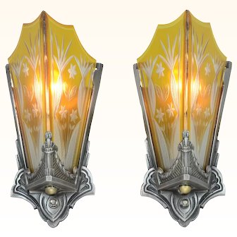 Unique American Art Deco Sconces (ANT-934)