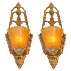 Very Nice Art Deco Pair of Sconces by Virden (ANT-938)