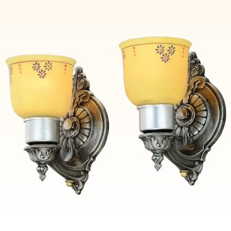 Lovely Pair of Circa 1920s-30s Wall Sconces (ANT-946)