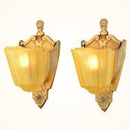 Pair of American Art Deco Slip Shade Sconces ANT-953