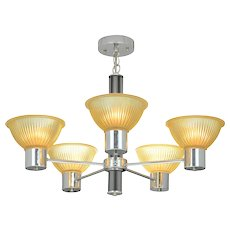Mid-Century Modern Design Nickel Plated 5 Light Chandelier ANT-959