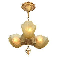 Art Deco 3 Shade Pendant by Markel ANT-967
