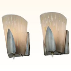 Mid-Century-Modern Pair of Wall Sconces by Virden ANT-971