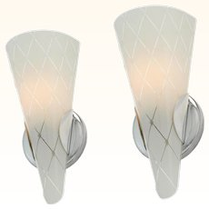 Mid Century Modern Pair of Wall Sconces ANT-984