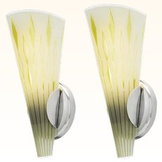 Mid Century Modern Pair of Wall Sconces ANT-987