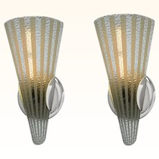 Mid Century Modern Pair of Wall Sconces ANT-988