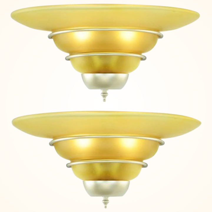 Art Deco Style Pair Of Nice Quality Sconces Ant 992