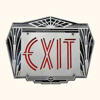 Theater or Commercial fancy Art Deco style Exit Sign EXT-314