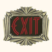 Theater or Commercial fancy Solid Brass Art Deco style Exit Sign (EXT-422R)
