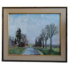 Walter Emerson Baum (1884-1956) Oil on Canvas Pennsylvania Impressionist