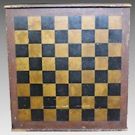 Mid to Late 19th Century Folk Art Game Board with Original Paint
