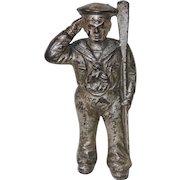 Hubley Antique Cast Iron Sailor Still Bank, Circa Early 1900s