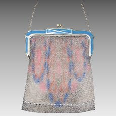 Vintage 1920s Whiting and Davis Dresden Mesh Purse