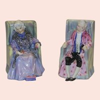 "Royal Doulton English Porcelain Figurines, ""Joan and Darby"""