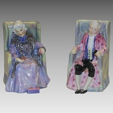 """Royal Doulton English Porcelain Figurines, """"Joan and Darby"""""""