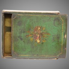 Early Paint Decorated Child's School Box of Virginia Origin