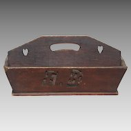 19th Century Hand Carved Wooden Carrier Bridal Gift