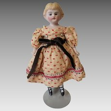 Antique German  Hertwig Bisque Shoulder Head Child's Doll circa 1890s