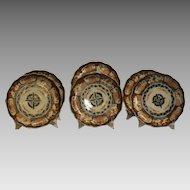 Set of Six Hand Decorated Imari Plates