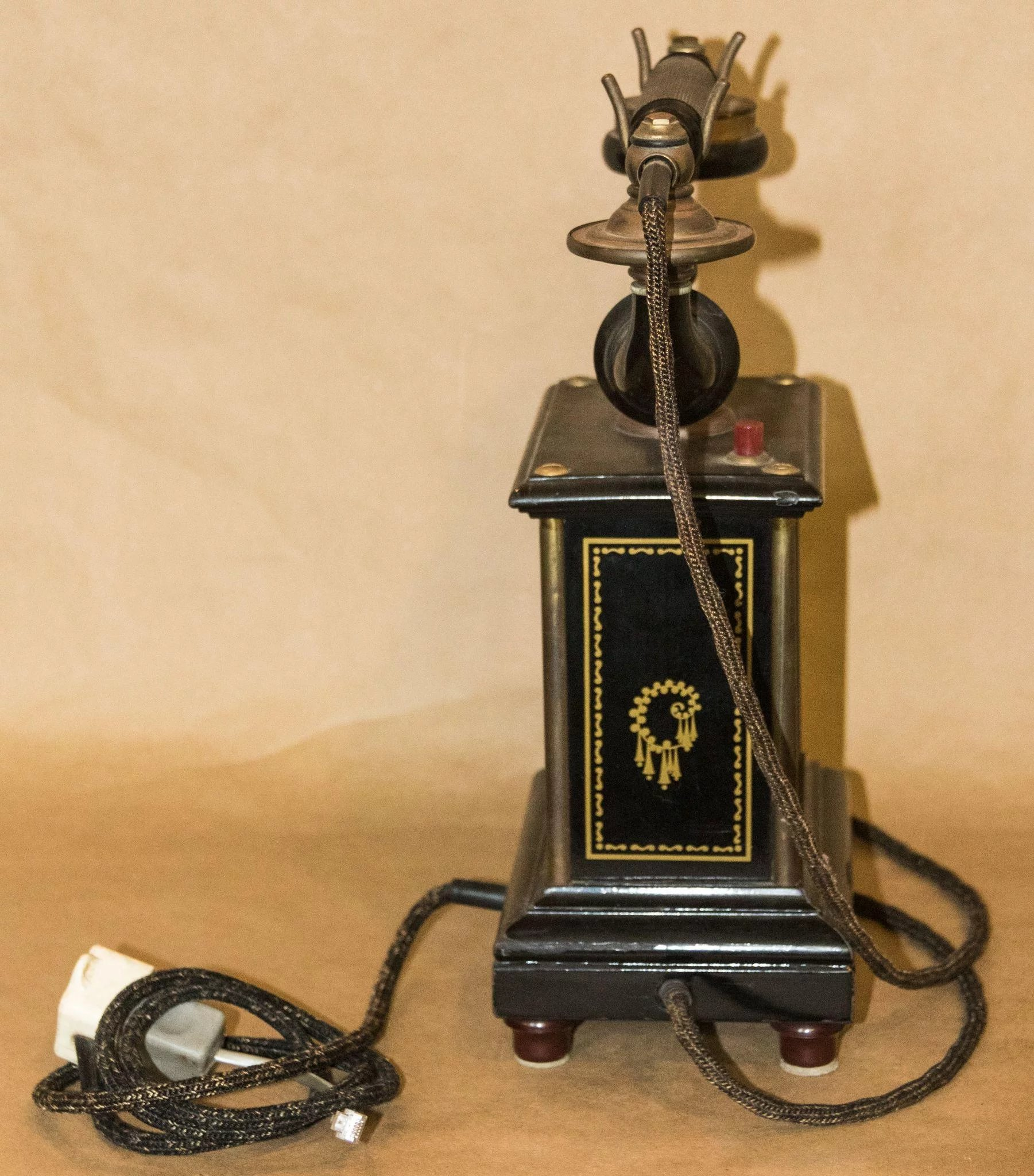 Antique Telephone marked ALLM. TELEFON A.-B. by L.M ...