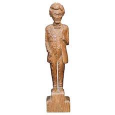 1863 Folk Art Wood Carving of President Abraham Lincoln
