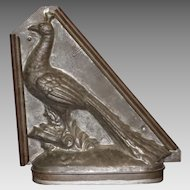 Antique French Chocolate/Ice Cream Mould in Peacock Form by E. Sommet