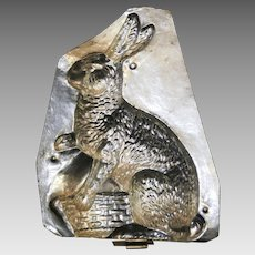 Early 1900s Easter Rabbit Chocolate Mold