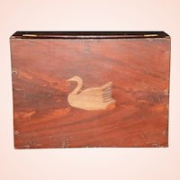 Mid 1800s Original Paint Decorated Document Box