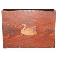 Mid 1800s Original Paint Decorated Document Box