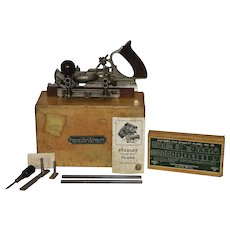 """Stanley Model 45 """"Seven in One"""" Combination Plane With Box and Original Accessories"""