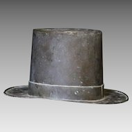 Late 19th C. Folk Art Copper Top Hat Mold