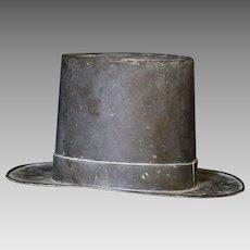 Late 19th C. Folk Art Copper Top Hat Mold